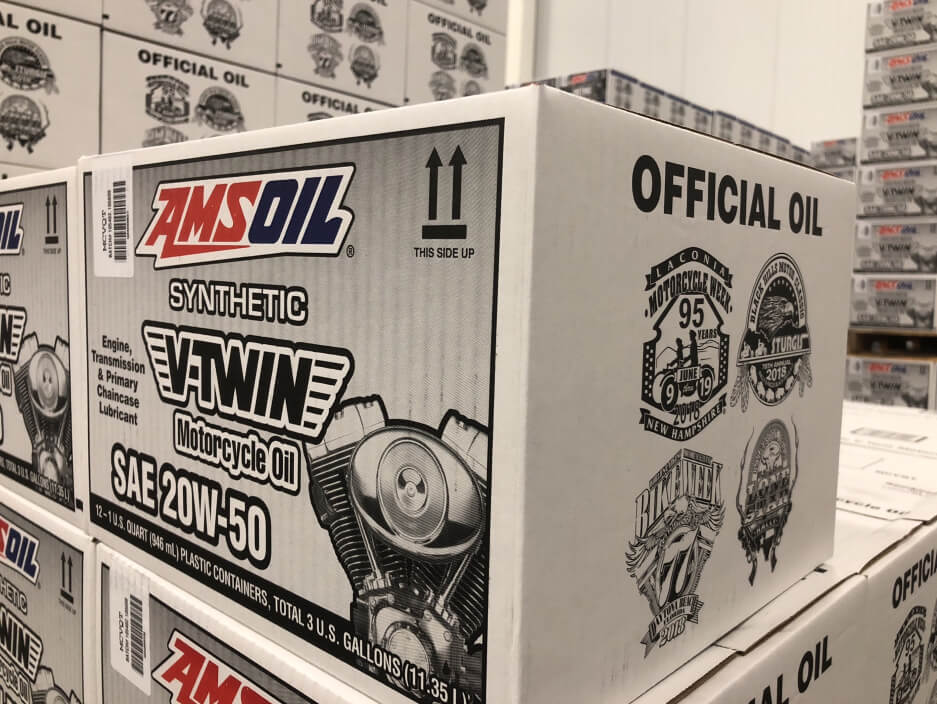 AMSOIL 20W-50 Motorcycle Oil - Case of 12 Quarts