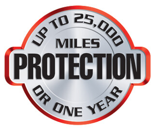 Up To 25,000 Miles Protection